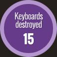 keyboards destroyed